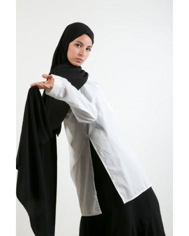 hijab soie de médine-Noir