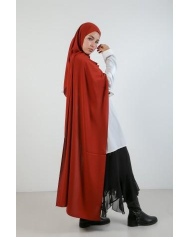 hijab soie de Médine-Brique...